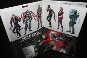 Art Book (with Game Disc in the Back), Game Soundtrack, and Gotham Knight DVD