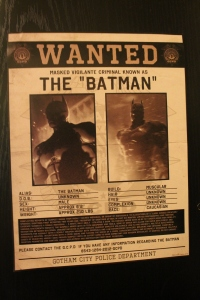 "A GCPD Wanted Poster for ""The Batman"""