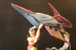 "Detail on the Wonder Woman part of the 13"" Statue"