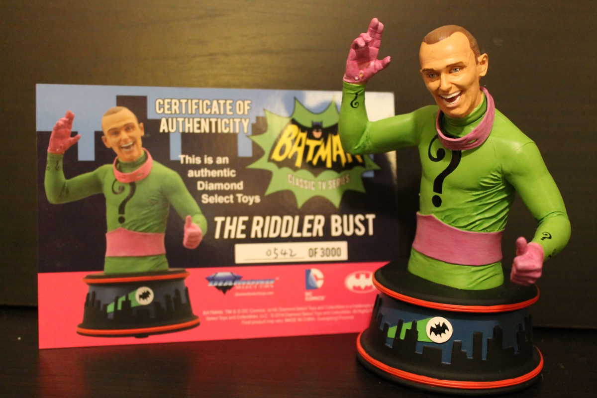 Diamond Select Classic Batman TV Series Riddler Bust Review