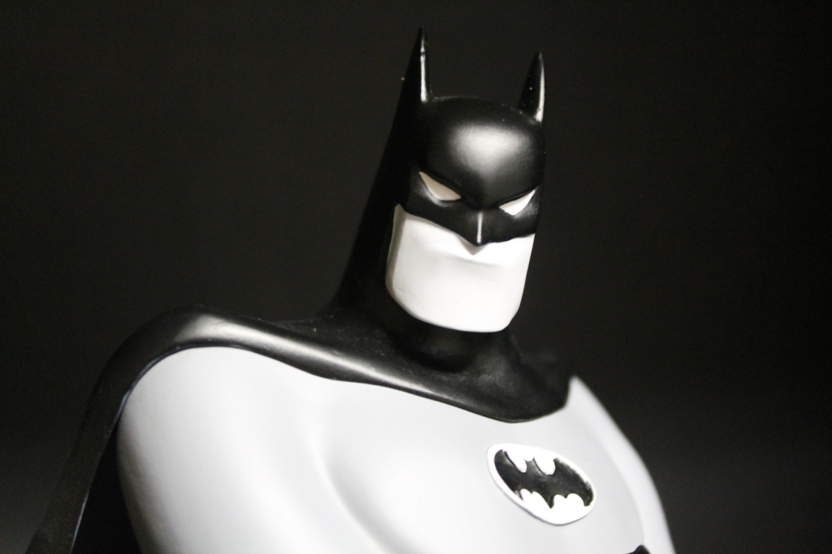 """I am the Night!""-- A Special Look at DST's SDCC Exclusive Black and White Batman Animated Bust"